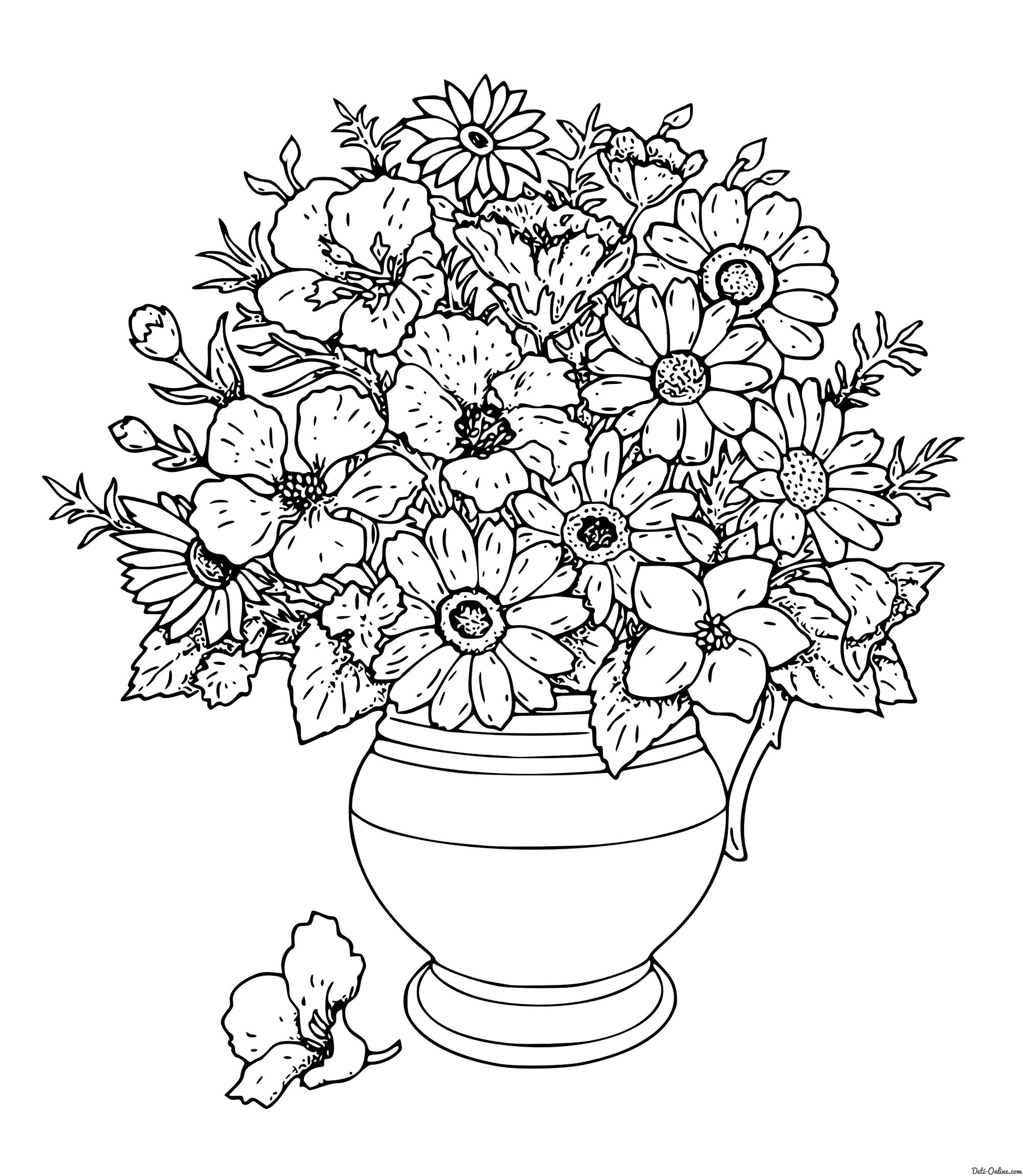 Цветы Раскраски антистресс в хорошем качестве